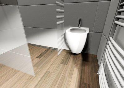 3D grafický návrh koupelny