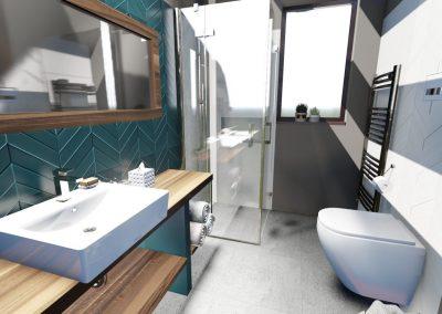 koupelna, obklad, geometrický