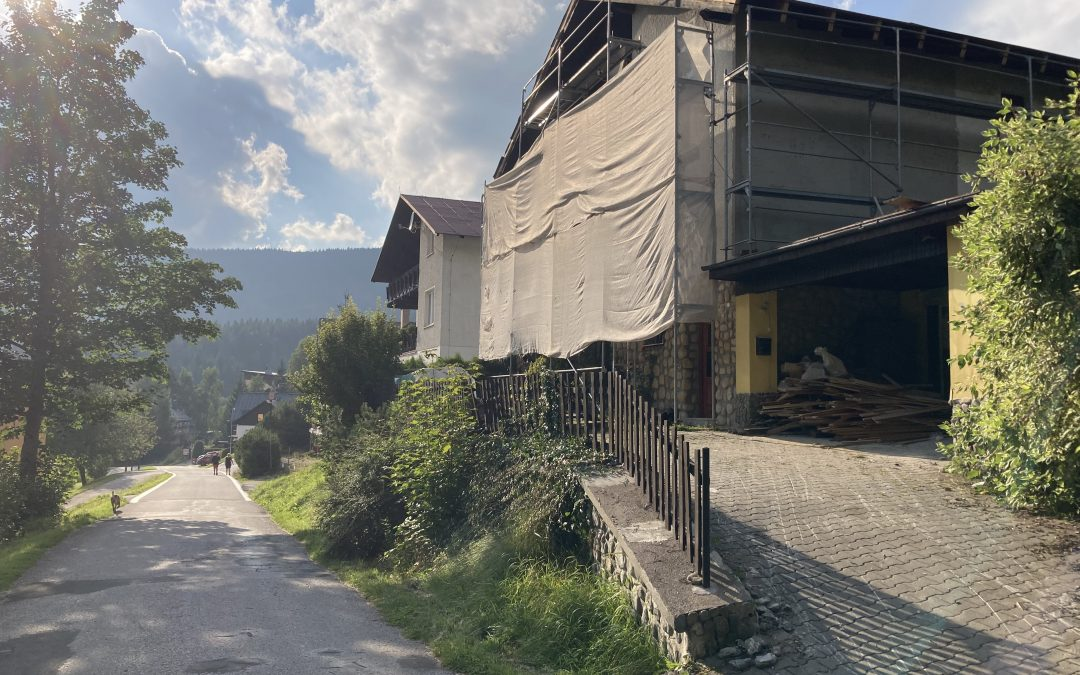 Průběh rekonstrukce rodinného domu ve Špindlerově Mlýně